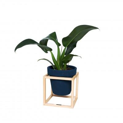 Vaso cerâmica nº4 em suporte de madeira