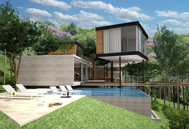 Casa maracan terra e tuma for Casa para dos con piscina privada