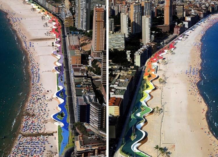 A West Beach Promenade tem 1,5 km de extensão.