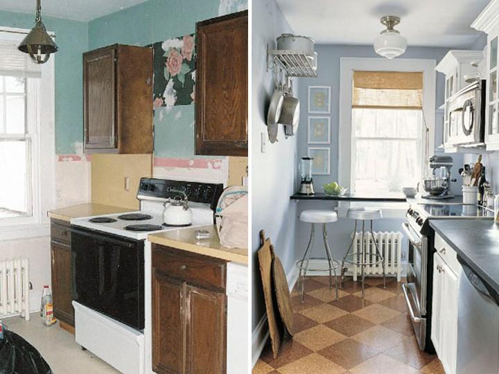 Antes e depois dicas de reforma de cozinha - Reformas en casas pequenas ...