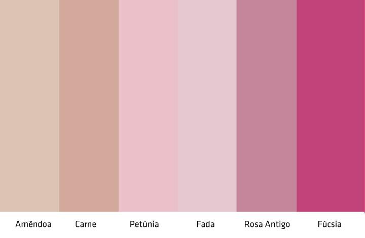 Resultado de imagem para paleta de cor rosa