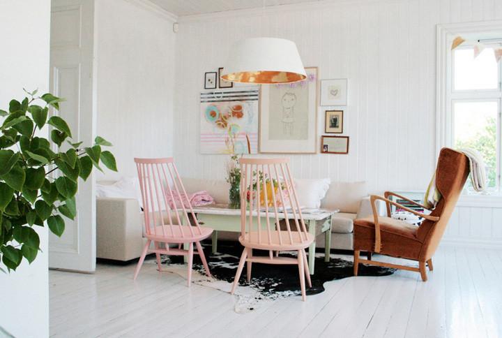 6 ambientes decorados utilizando tons pastel