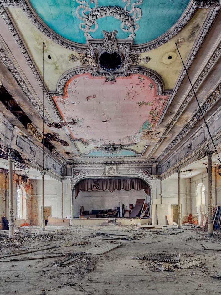 Construção soviética abandonada