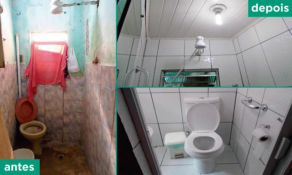 antes e depois banheiro reformado programa vivenda