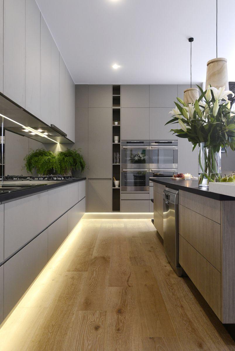 Cozinha com iluminação em LED