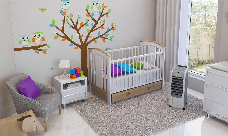 Climatizador de ar em quarto infantil