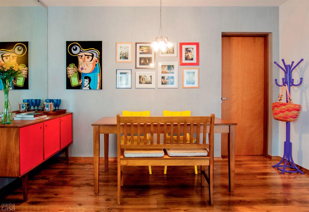 5 ambientes para se inspirar e investir em móveis coloridos