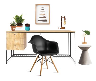 Uma seleção de produtos para você montar um home office charmoso e produtivo