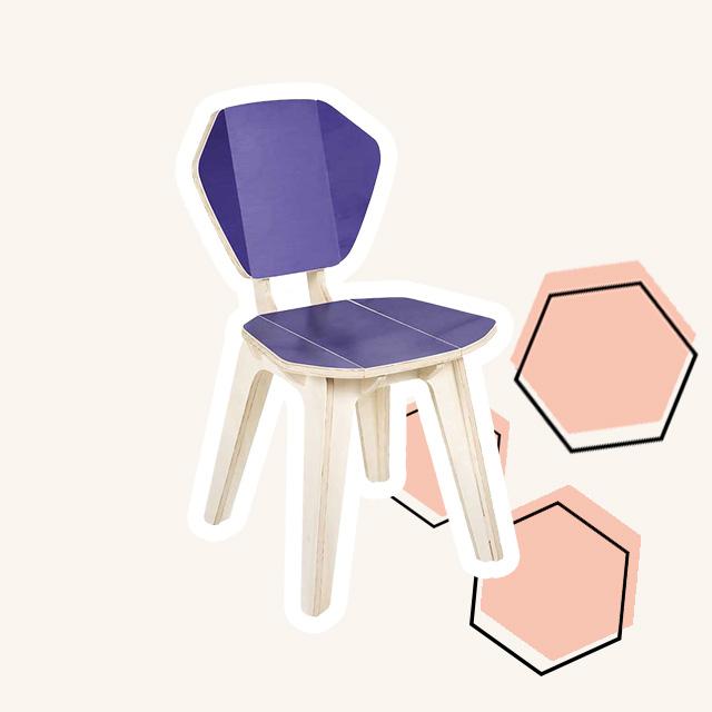 Cadeira em Madeira Pétala ColorBlock